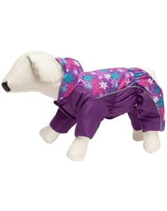 Комбинезон для собак маленьких пород на синтепоне фиолетовый для девочек 32 Osso fashion