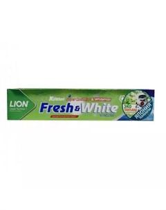 Паста зубная отбеливающая супер прохладная мята Fresh White 160 г Зубные пасты Lion thailand