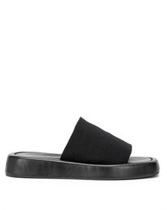 Шлепанцы на платформе с квадратным носком Loeffler randall