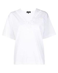 Блузка с матросским воротником Comme des garçons tricot