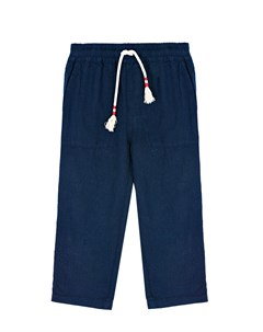Льняные синие брюки детские Saint barth