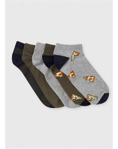 Короткие носки с жаккардом пиццы Ostin