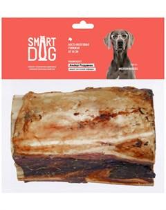 Лакомство для собак кость мозговая говяжья 10 12 см 1 шт Smart dog