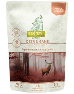 Roots Adult Forest беззерновые для взрослых собак с олениной и дичью 410 гр х 7 шт Isegrim