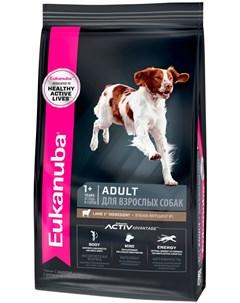 Adult All Breeds Lamb Rice для взрослых собак всех пород с ягненком и рисом 1 кг Eukanuba