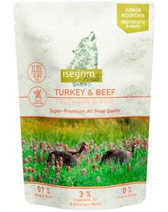Roots Junior Mountain беззерновые для щенков с индейкой и говядиной 410 гр х 7 шт Isegrim