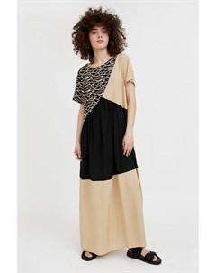 Комбинированное платье макси Finn flare