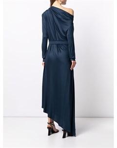Платье асимметричного кроя с драпировкой Martin grant