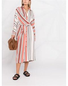 Полосатое платье рубашка с запахом Lala berlin