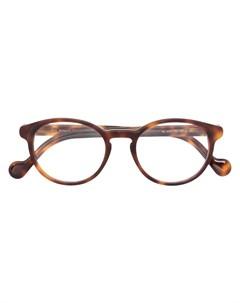 Очки в круглой оправе Moncler eyewear