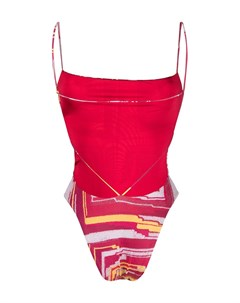 Купальник с абстрактным узором Sian swimwear