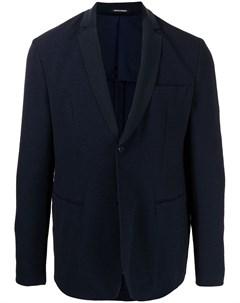 Фактурный однобортный пиджак Emporio armani