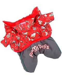 Комбинезон для собак красный для мальчиков Fw237 2014 Am 8 For my dogs