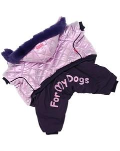 Комбинезон для собак фиолетовый металлик для девочек Fw926 2020 F 16 For my dogs
