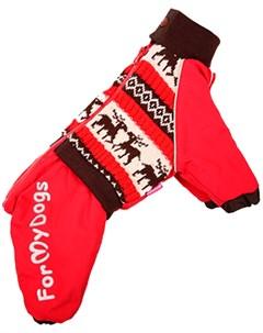 Комбинезон для собак Олени красный для мальчиков Fw235 2014 M 8 For my dogs