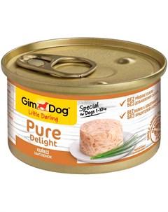 Pure Delight для взрослых собак с курицей в желе 85 гр х 12 шт Gimdog