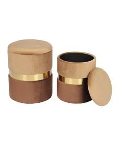 Комплект из двух пуфиков new york коричневый 44 см My interno