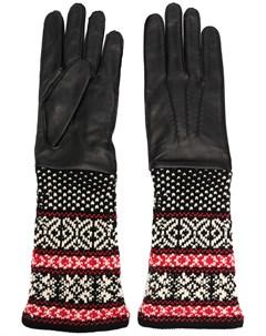 Перчатки с орнаментом Yohji yamamoto