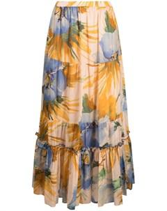 Расклешенная юбка макси с цветочным принтом Twinset