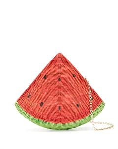 Соломенный клатч Watermelon Serpui