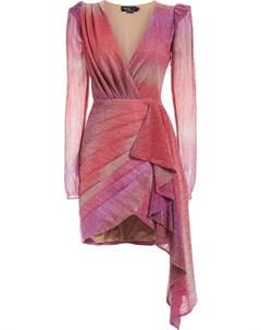 Платье мини с эффектом омбре и сборками Patbo