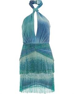 Платье мини с эффектом омбре Patbo