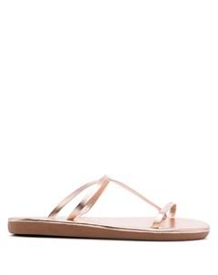 Сандалии Parthena с эффектом металлик Ancient greek sandals
