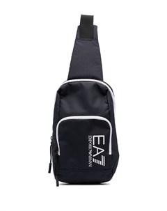 Рюкзак с одной лямкой и логотипом Ea7 emporio armani