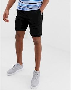 Черные облегающие шорты чиносы Черный Asos design