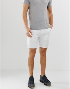 Белые узкие шорты чиносы Белый Asos design