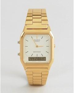 Цифровые часы браслет AQ 230GA 9DMQYES Золотой Casio