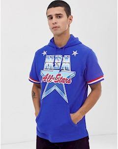 Синий свитшот с капюшоном и короткими рукавами 1991 All Star Синий Mitchell and ness
