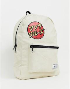 Серовато белый рюкзак вместимостью 24 5 л x Santa Cruz Daypack Белый Herschel supply co