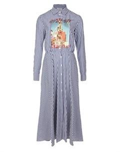 Синее платье в полоску Stella jean