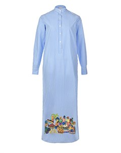 Голубое платье в полоску Stella jean