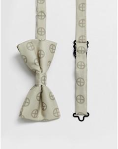 Сатиновый галстук бабочка с принтом wedding Religion