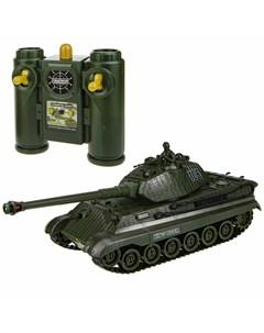 Взвод танк на р у 2 4 ГГц 1 28 35 см движение во все стороны вращение башни свет и звук индикатор по 1toy