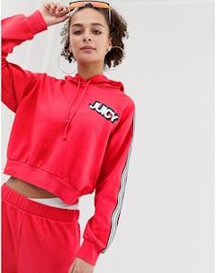 Худи с логотипом на груди и отделкой лентой Juicy By Красный Juicy couture