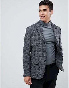 Облегающий блейзер с карманами Серый Selected homme