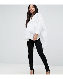 Джеггинсы для беременных со съемной вставкой для живота Maternity Черный Bandia