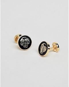 Золотистые запонки Золотой Twisted tailor