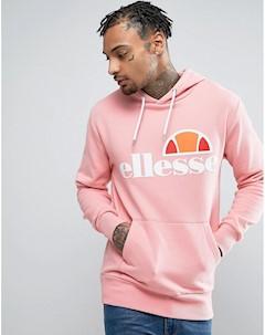 Худи розового цвета с классическим логотипом Розовый Ellesse