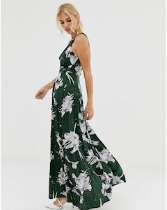 Платье макси с цветочным принтом Uttam boutique