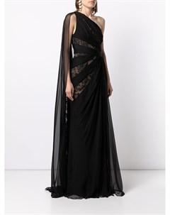 Кружевное платье с драпировкой Zuhair murad