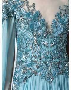 Шифоновое платье с кейпом Zuhair murad