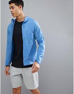 Синяя ветровка с капюшоном Синий J.lindeberg activewear