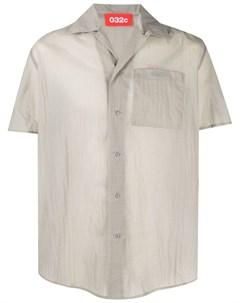 Рубашка с короткими рукавами и принтом тай дай 032c