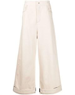 Широкие брюки с подворотами Sunnei