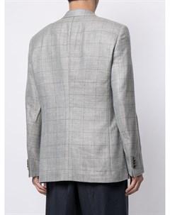 Однобортный пиджак в клетку Giorgio armani