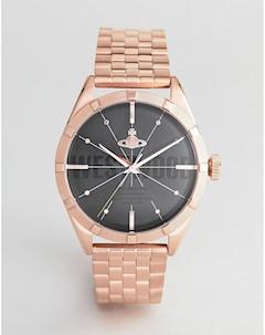 Розово золотистые часы браслет VV192BKRS Conduit Золотой Vivienne westwood